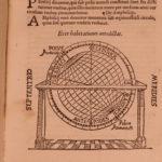 1553 Peter Apianus Cosmographia Astronomy Navigation Map Mathematics AMERICA