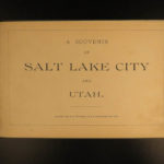 1888 Salt Lake City Utah ILLUSTRATED Mormon Brigham Young Grave Indians