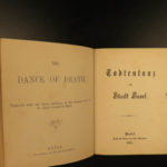 1875 Dance of Death Matthaeus Merian Illustrated Occult Macabre Polyglot Basel