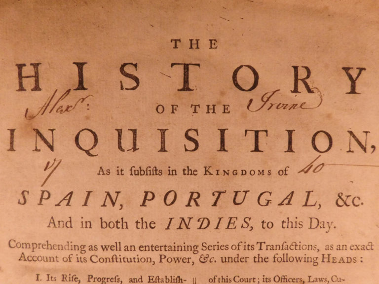 Image of 1734 1ed Inquisition History of TORTURE Witches Catholic Spain Portugal Indies