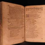 1623 1ed 6 LANGUAGE Epitaphs of Sweerts DUTCH Latin French Italian Spanish RARE