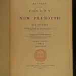 1855 ENORMOUS New Plymouth Colony WITCHCRAFT Trials Law Boston Salem 9v SET