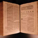 1667 Thomas Aquinas Summa + Sylvius Commentary Existence of God HUGE FOLIOS 4v