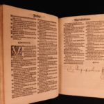 1526 Bible Sermons Medieval Menot Cordelier Monk France Chevallon Macaronic