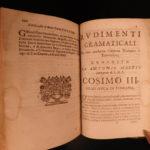 1677 1ed TURKISH Vocabulary & Grammar Dictionary Arabic Ottoman Italian Mascis
