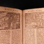 1609 Aesop's Fables Greek Mythology AESOP Planudes Homer Batrachomyomachia Latin