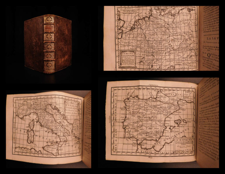 Image of 1738 Buffier Geography 17 ATLAS Maps Africa Italy Asia America California Island