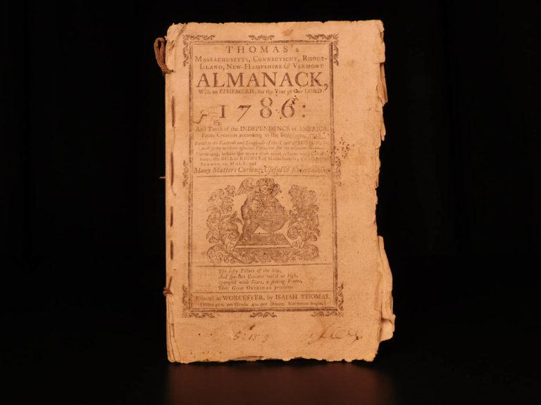 Image of 1785 Isaiah Thomas Almanac Colonial America BILL RIGHTS Declaration John Adams