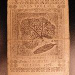 1778 Revolutionary War MONEY Early American Banknote $7 Dollars Finance