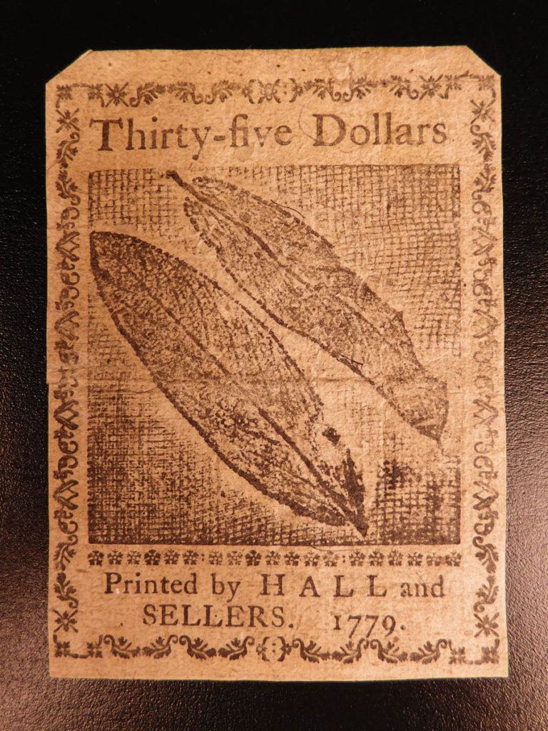 Image of 1779 Revolutionary War MONEY Early American Banknote $35 Dollars Finance