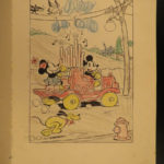 1933 1ed DISNEY Pop-Up Book Mickey Mouse Minnie Cartoons Childrens Illustrated
