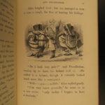 1878 Through the Looking Glass Lewis Carrol Tenniel Alice Wonderland Jabberwocky