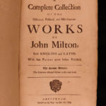 1698 Tracts of John MILTON History of Moscow Tenure of Kings Magisrates English