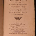 1788 COSTUMES Dress Illustrated Clothing Crimea Malta Bulgaria Greece Corfu