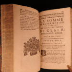 1678 ALCHEMY Occult Hermetic Astrology Philosopher's Stone Salmon 5in1 RARE