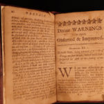 1728 EARLY BOSTON Divine Warnings Williams Sermon Puritan Sexuality Immorality