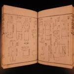 1851 Japanese Ikebana Flower Arrangement Handwritten Woodblock Print Japan 10v
