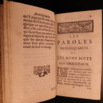 1694 1ed Oriental Maxims of Arab Turkish Persian Wit Voyages Richelieu Galland