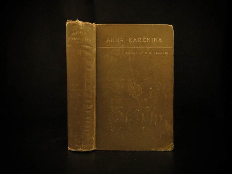 Image of 1886 1st ed Anna Karenina by Leo Tolstoy Literature Feminism Moscow Romanov
