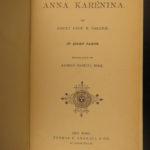 1886 1st ed Anna Karenina by Leo Tolstoy Literature Feminism Moscow Romanov