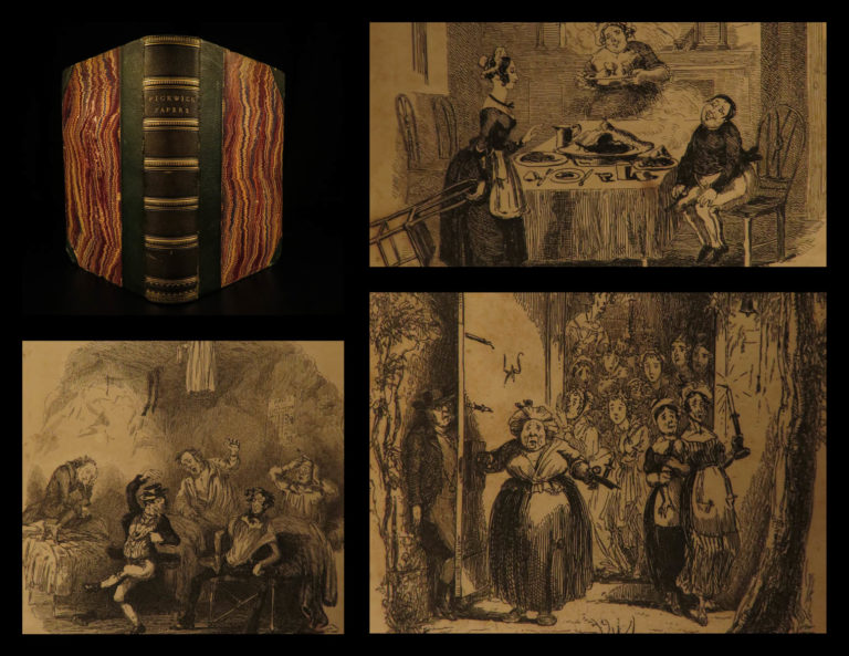 Image of 1837 1st/1st Charles Dickens Pickwick Club Papers First Novel Social Satire RARE