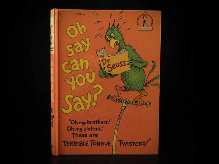 Image of 1979 TRUE 1st/1st Oh Say Can You Say SIGNED by Dr Seuss Illustrated RARE