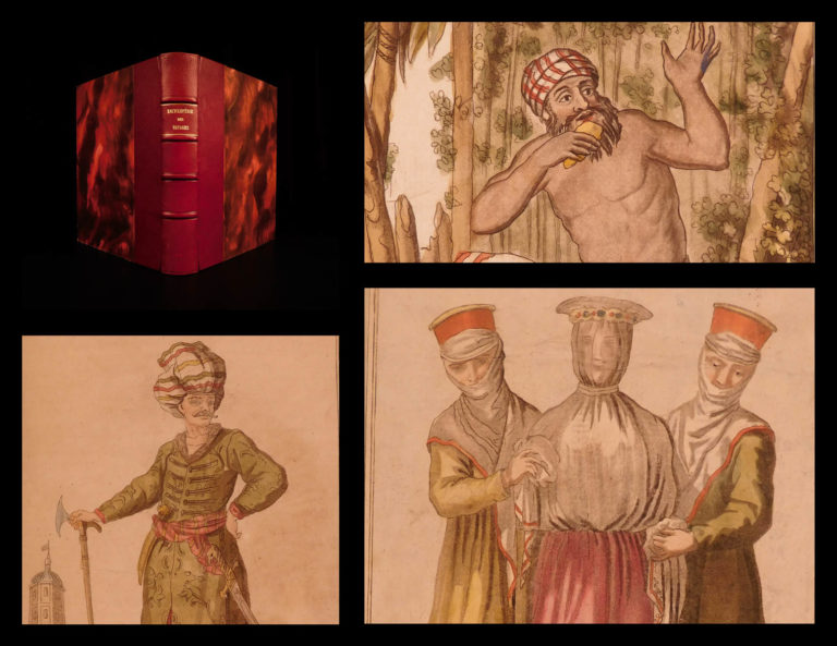 Image of 1796 1st ed Saint-Sauveur VOYAGES Africa Asia Color Illustrated Costumes China