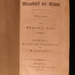 1803 Immanuel KANT Metaphysics of Morals German Philosophy Practical Reason