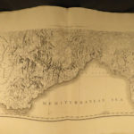 1800 ENORMOUS ATLAS 25 MAPS Holland Germany Switzerland Italy Corsica Sardinia