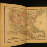 1864 Colton Civil War ATLAS Color 25 MAPS United States EARLY Montana California