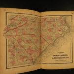 1864 Colton Civil War ATLAS Color 25 MAPS United States EARLY Montana California