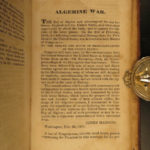 1829 1st ed War of 1812 History Paris Davis Native American INDIANS Algiers