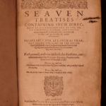 1610 1st ed Puritan Richard Rogers Seven Treatises Bible Sermons Godly Living