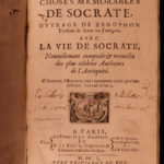 1650 1ed Life of Socrates Xenophon Greek Philosophy Classical French Charpentier