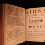 1674 Francis Quarles Divine Poems English Sonnets Job Militant Feast for Worms
