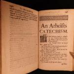 1672 1ed Atheism & Hobbes Leviathan Reasonableness of Scripture Belief Wolseley