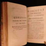 1782 Rousseau Discourse on Inequality French Philosophy Civil Sociology RARE