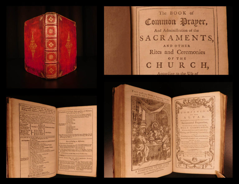 Image of 1791 Book of Common Prayer Church of England Bible Psalms Cambridge BEAUTIFUL