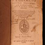 1568 1ed Council of Trent Roman Catechism Catholic Church Liege Hovius RARE