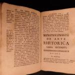 1690 Art of Rhetoric by Jesuit Suarez Cicero Aristotle Quintilian Virgil Douai
