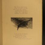 1889 The Raven Edgar Allan Poe Occult Horror Poetry Illustrated WL Taylor Art