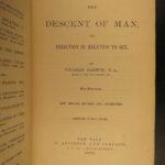 1883 Darwin Origin of Species Descent of Man Evolution APES Monkeys Science RARE