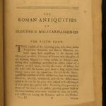 1758 1ed Dionysius of Halicarnassus Roman Antiquities Mythology Romulus & Remus