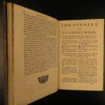 1698 EXQUISITE Catholic Holy Week Breviary Prayers French Latin FINE BINDING