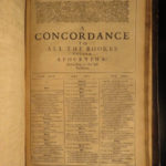 1643 PURITAN Bible Concordance Samuel Newman Colonial Americana Clement Cotton