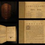 1698 Bible Concordance Apocrypha Puritan FAMOUS Samuel Newman Cambridge Hayes