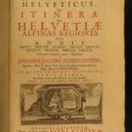 1723 Scheuchzer SWISS ALPS Voyages Illustrated Switzerland Zurich Bern Travel