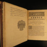 1668 History of FRANCE Mezeray Clovis Pharamond Legends St Louis IX Portraits 3v