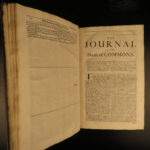 1682 1ed Journal of British Parliament Queen Elizabeth I England d'Ewes Politics