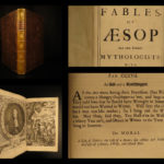 1692 1st ed Aesop's Fables AESOP English Folklore Estrange Mythology Barlandus